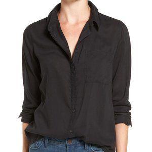 NWT Treasure & Bond Black Drapey Classic Shirt XS